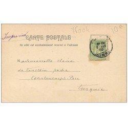 carte postale ancienne PARIE Ier. Le Palais de Justice. Timbre 5 Centimes 1900