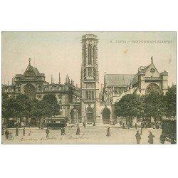 carte postale ancienne PARIS 01. Eglise Saint-Germain-l'Auxerrois 1904