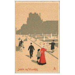 carte postale ancienne PARIS 01. Jardin des Tuileries