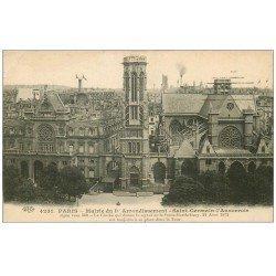 carte postale ancienne PARIS 01. Mairie Saint-Germain-l'Auxerrois 1915