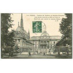 carte postale ancienne PARIS 01. Palais de Justice et Sainte-Chapelle 1908