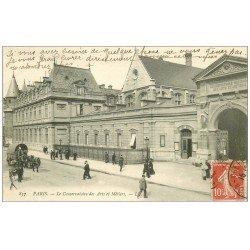 carte postale ancienne PARIS 03. Conservatoire des Arts et Métiers animation 837