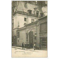 carte postale ancienne PARIS 03. Hôtel de Brévannes Rue Charlot tricycle P &amp G