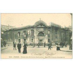 carte postale ancienne PARIS 03. Palais Archives Nationales rue des Francs-Bourgeois 1902