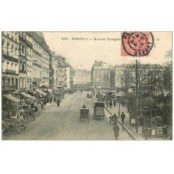 carte postale ancienne PARIS 03. Rue du Temple 1906