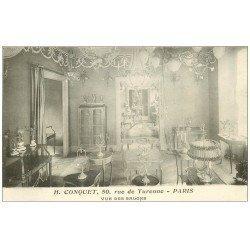 carte postale ancienne PARIS 03. Salons Hôtel Conquet 50 rue de Turenne