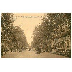 carte postale ancienne PARIS 03. traction avant Boulevard Beaumarchais vers le n° 69