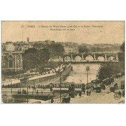 carte postale ancienne PARIS 04. Abside Notre-Dame 1923