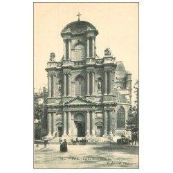 carte postale ancienne PARIS 04. Attelage Badoit Eglise Saint-Gervais