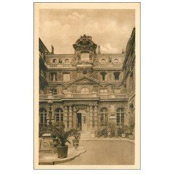 carte postale ancienne PARIS 04. Ecole Massillon Quai Célestins. Cour