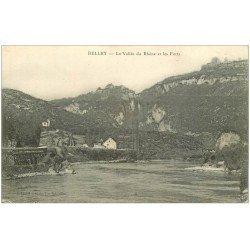 carte postale ancienne 01 Belley. Vallée du Rhône et Forts 1916
