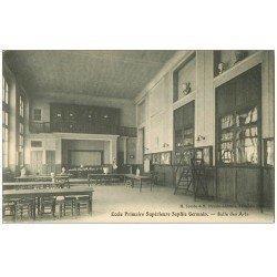 carte postale ancienne PARIS 04. Ecole Sophie-Germain. Salle des Arts