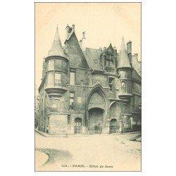 carte postale ancienne PARIS 04. Hôtel de Sens 153