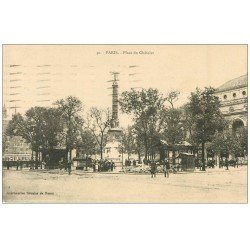 carte postale ancienne PARIS 04. Place Chatelet. Belle Jardinière 1925