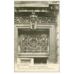 carte postale ancienne PARIS 05. 47 Quai de la Tournelle