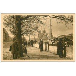 carte postale ancienne PARIS 05. Bouquinistes Quai de la Tournelle