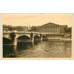carte postale ancienne PARIS 05. Chambre Députés et Pont Concorde