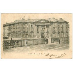 carte postale ancienne PARIS 05. Ecole de Droit 1903