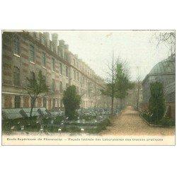 carte postale ancienne PARIS 05. Ecole de Pharmacie. Laboratoires Travaux Pratiques