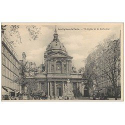 carte postale ancienne PARIS 05. Eglise de la Sorbonne 77
