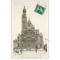 carte postale ancienne PARIS 05. Eglise Saint-Etienne-du-Mont 1910