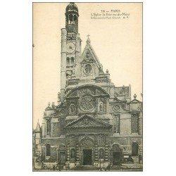 carte postale ancienne PARIS 05. Eglise Saint-Etienne-du-Mont 316