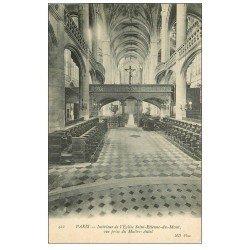 carte postale ancienne PARIS 05. Eglise Saint-Etienne-du-Mont Maître-Autel