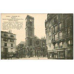 carte postale ancienne PARIS 05. Eglise Saint-Jacques-du-Haut-Pas 1922
