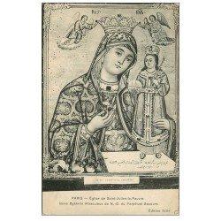 carte postale ancienne PARIS 05. Eglise Saint-Julien-le-Pauvre. Icone