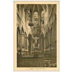 carte postale ancienne PARIS 05. Eglise Saint-Merry Croix