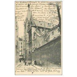 carte postale ancienne PARIS 05. Eglise Saint-Séverin 1906