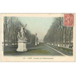 carte postale ancienne PARIS 06. Avenue de l'Observatoire 1907