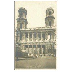 carte postale ancienne PARIS 06. Eglise Saint-Sulpice en rénovation 1905