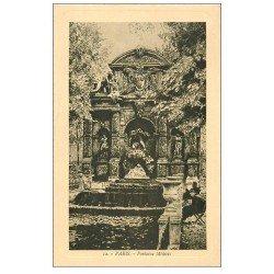 carte postale ancienne PARIS 06. Fontaine Médicis. Bords dentelés à la ficelle