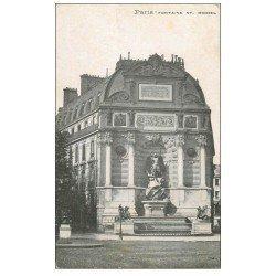 carte postale ancienne PARIS 06. Fontaine Saint-Michel