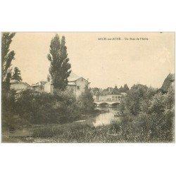 carte postale ancienne 10 ARCIS-SUR-AUBE. Un Bras de l'Aube 1924