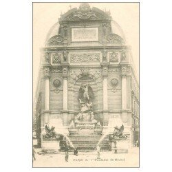carte postale ancienne PARIS 06. Fontaine Saint-Michel 5
