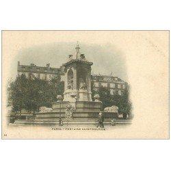 carte postale ancienne PARIS 06. Fontaine Saint-Sulpice 23 vers 1900