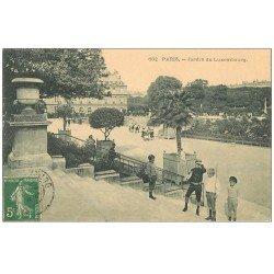 carte postale ancienne PARIS 06. Jardin du Luxembourg 1907