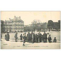 carte postale ancienne PARIS 06. Le Grand Bassin du Luxembourg vers 1900