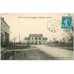 carte postale ancienne 10 AUXON. La Gare 1926