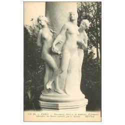 carte postale ancienne PARIS 06. Les Muses Monument par Mercié pour Silvestre