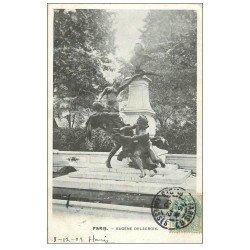 carte postale ancienne PARIS 06. Monument Delacroix 1903