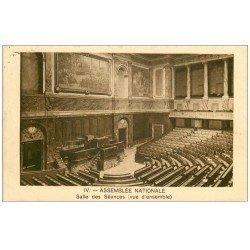 carte postale ancienne PARIS 07. Assemblée Nationale Salle des Séances 1931