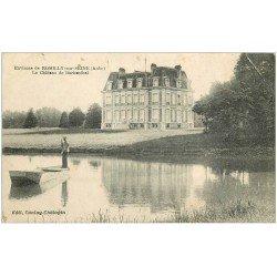 carte postale ancienne 10 BARBNTHAL. Le Château et Passeur en barge 1920