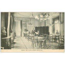 carte postale ancienne PARIS 07. Cercle Militaire Salle de Café rue Chevert