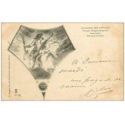 carte postale ancienne PARIS 07. Chambre Députés 1904 Fresques Delacroix Achille