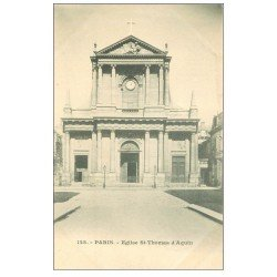 carte postale ancienne PARIS 07. Eglise Saint-Thomas d'Aquin