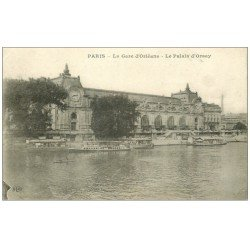 carte postale ancienne PARIS 07. Gare Orléans Palais Orsay
