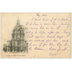 carte postale ancienne PARIS 07. Hôtel des Invalides 1903